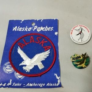 Jewelry - Alaska Memorabilia Patch Button & Pin Travel